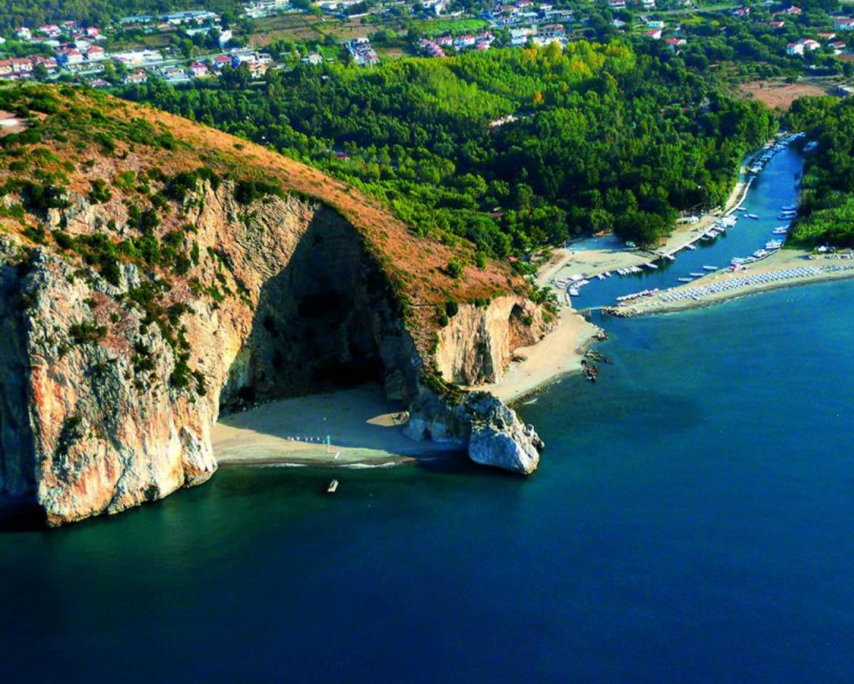 Capo palinuro, roccioso della costa della Campania Meridionale